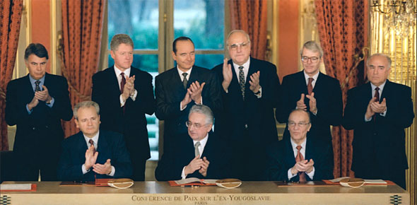 Signing of Peace Accords in Paris on 14 December 1995