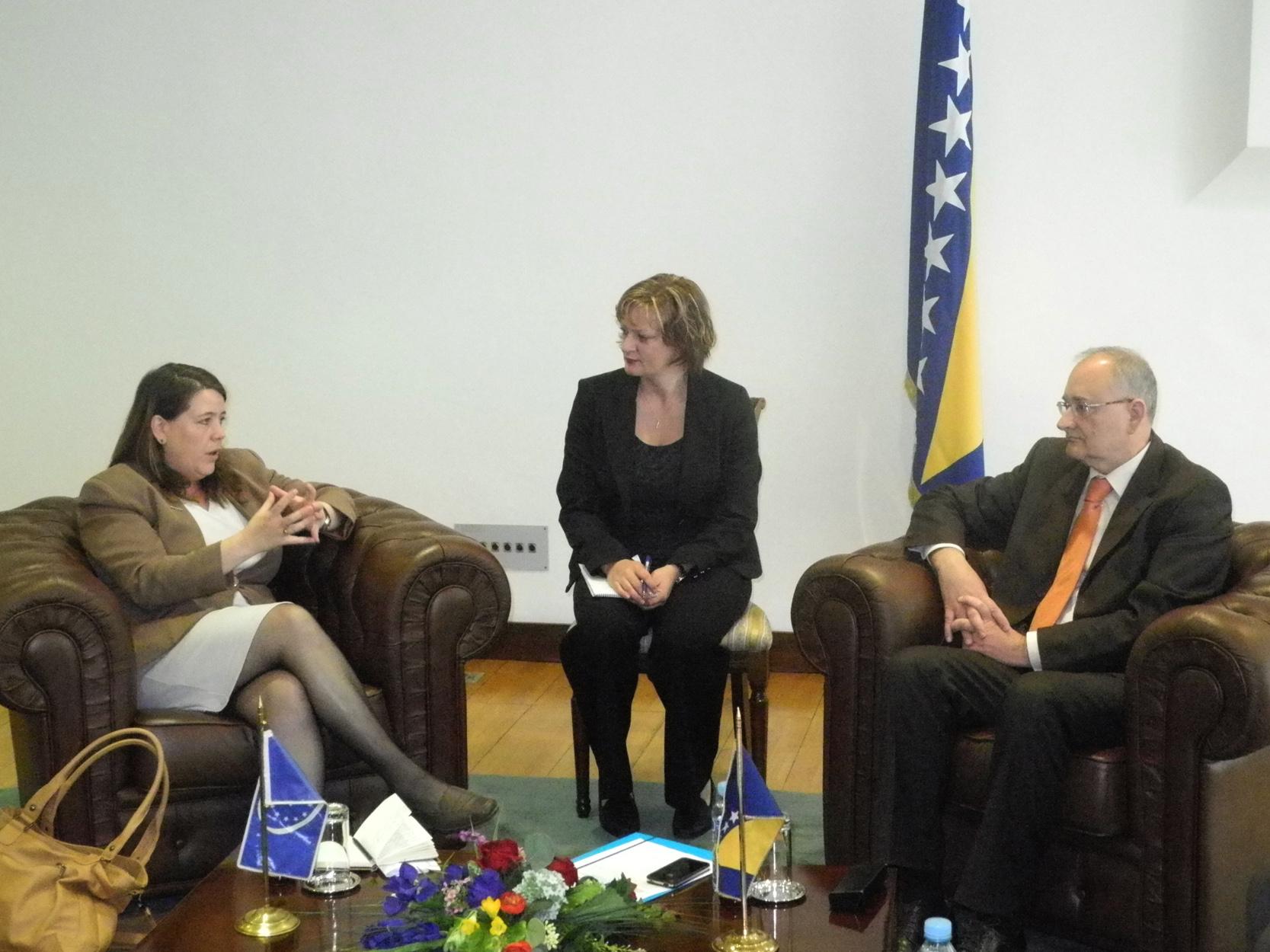 Deputy Speaker of the House of Representatives, Božo Ljubić, spoke with the Head of the Council of Europe's Office in BiH