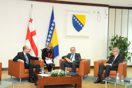 Members of the Collegium of the House of Representatives of the Parliamentary Assembly of BiH talked with the Deputy Prime Minister and the Minister of Foreign Affairs of Georgia
