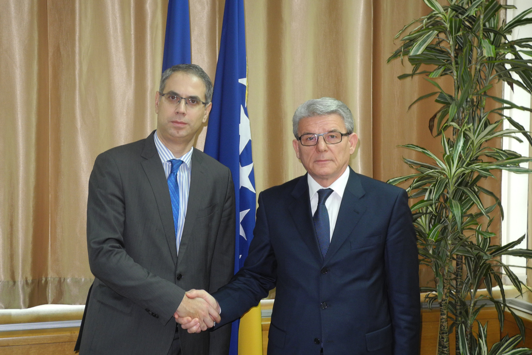 Speaker of the House of Representatives of the Parliamentary Assembly of Bosnia and Herzegovina, Šefik Džaferović received the newly-appointed Head of Office of the Council of Europe in Bosnia and Herzegovina