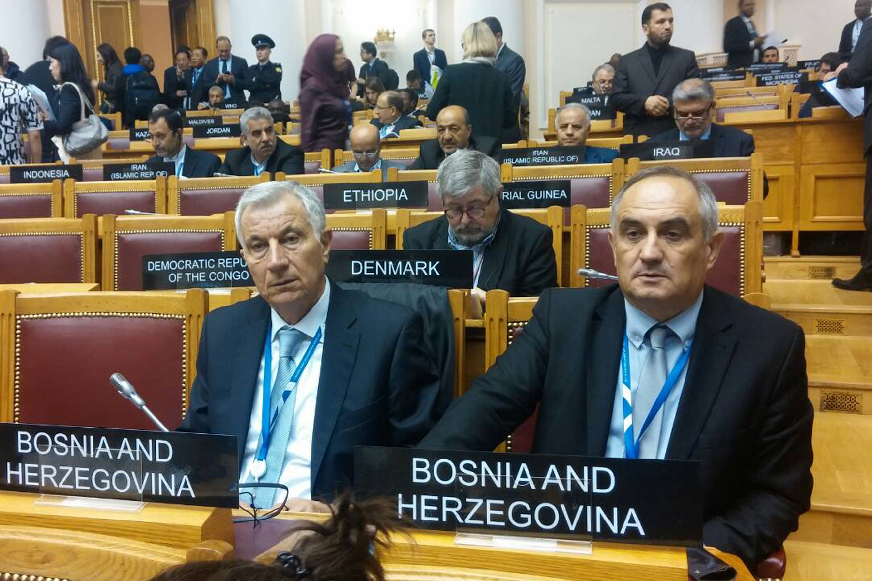 Members of the PA BiH Delegation to IPU Predrag Kožul and Sredoje Nović attend the autumn session of the Interparliamentary Union in St. Petersburg