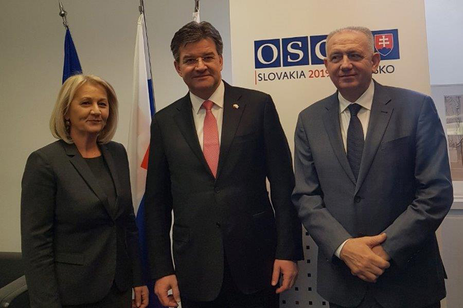 Speaker of the House of Representatives, Borjana Krišto, and the Speaker of the House of Peoples, Bariša Čolak, attend the 18th Winter Meeting of the OSCE Parliamentary Assembly